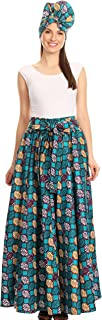 Asma Convertible Traditional Wax Print Adjustable Strap Maxi Skirt | Dress