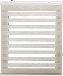 Blindecor Lira Luxury Estor Enrollable de Doble Capa, Noche y Día, Poliéster, Lino Crema, 160 x 180