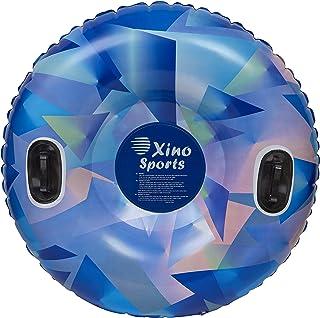 XinoSports Premium Inflatable Snow Tube، بزرگ سورتمه با قطر 42 اینچ، طراحی وظیفه سنگین برای ارائه ساعت های سرگرم کننده، سورتمه برف
