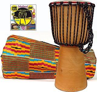 Djembe infantil 40 cm x 20 cm : Djembe ninos + Bolsa + DVD metodo Djembe player (Español). Alta calidad djembe africano, t...