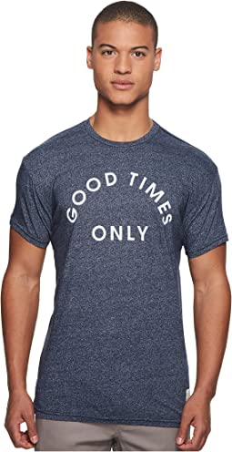 The Original Retro Brand Good Times Only Short Sleeve Mocktwist Tee