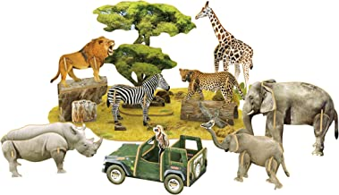 Daron Worldwide Trading African Wildlife 3D National Geog Puzzle (69 Pieces)