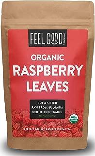 Organic Red Raspberry Leaf   Herbal Tea (50+ Cups)   Cut & Sifted Leaves   4oz Resealable Kraft Bag   100% Raw From Bulgaria