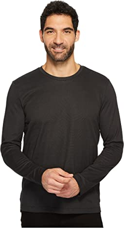 Kenneth Cole Sportswear - Long Sleeve Two-Tone Crew