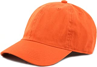 61e162baba749 THE HAT DEPOT Kids Washed Low Profile Cotton and Denim Plain Baseball Cap  Hat