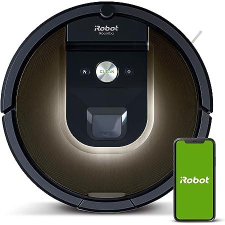 iRobot Roomba 981 Robot Aspirador-Wi-Fi, Funciona con Alexa, Ideal para Pelo de Mascotas, alfombras, Suelos Duros, tecnología Power Boost, Color Negro