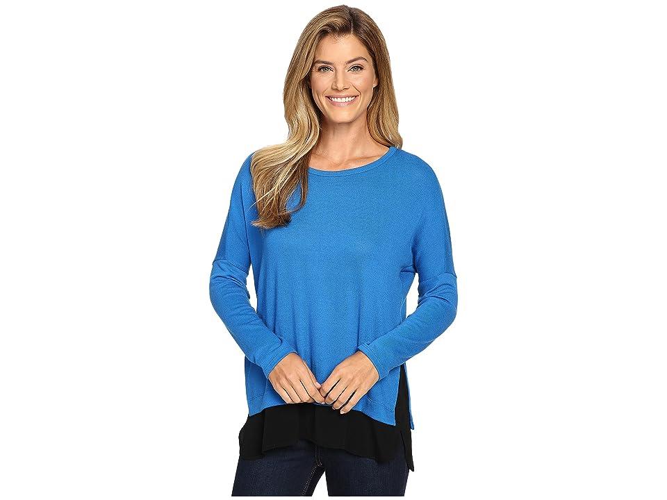 Karen Kane Contrast Hem Sweater Top (Lake) Women