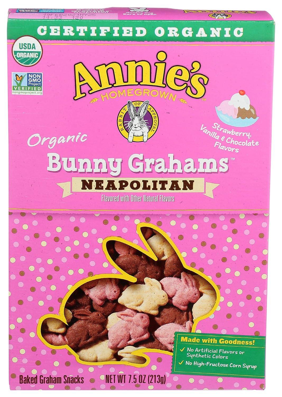 Annie's Organic Bunny 100% quality warranty! Grahams 7.5 Year-end annual account Neapolitan oz