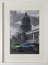 BD ART Picture Frame 12x16'' (30x40 cm) with Mat 8x12'' (21x30 cm - A4), White