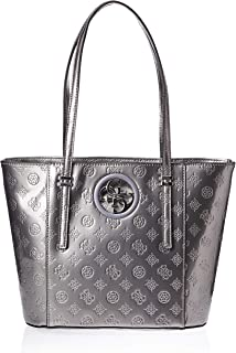 GUESS Women's Open Road Small Tote, Pewter - PY718622