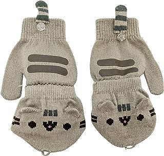 Cat Face Cat Paws Convertible Women's Fingerless Mitten Gloves