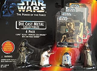 Star Wars the Power of the Force Die Cast Collectibles 4 Pack