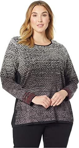 Plus Size Pattern Stitch Top