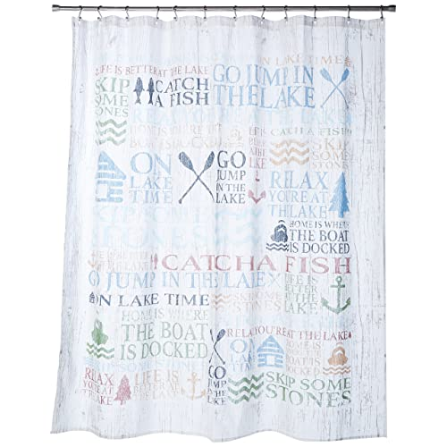 Avanti Linens Lake Words72 X 72 Shower CurtainMulti Colored