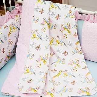 Carousel Designs Love Birds Crib Blanket