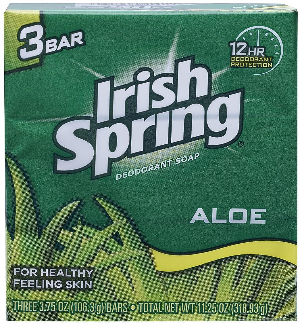 コメント設計畝間Irish Spring (IRIAL) ユニセックスのためにアロエデオドラントソープすることにより、3カウント