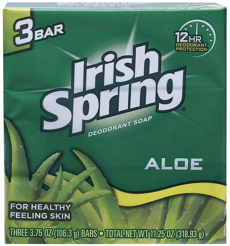 緩む祖母空白Irish Spring (IRIAL) ユニセックスのためにアロエデオドラントソープすることにより、3カウント