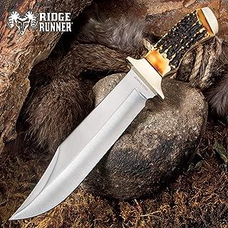 antler bowie knife