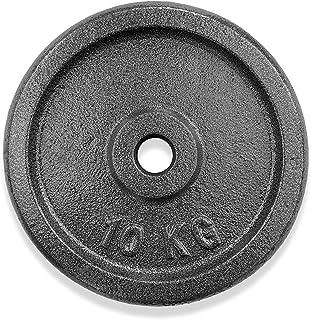 KVK FITNESS   20 kg hantelskivsset – 2 x 10 kg av gjutjärn – 30/31 mm vikter för korta och skivstångsstänger – DE återförs...