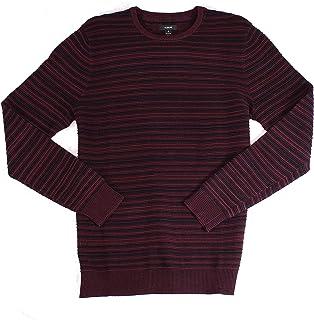 Alfani Mens Sweater Pullover Ottoman Textured Crewneck Red 2XL
