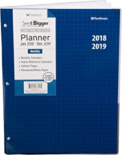PlanAhead See It Bigger 2 Year Monthly Planner, 2018-2019, Assorted Colors, Large Print
