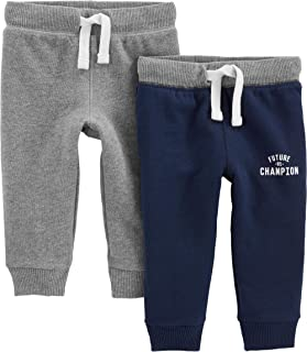 Baby and Toddler Boys' 2-Pack Athletic Knit Jogger Pants