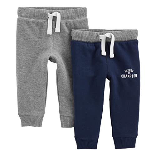 67caf18e9 Simple Joys by Carter's Baby and Toddler Boys' 2-Pack Athletic Knit Jogger  Pants