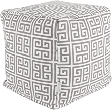 Majestic Home Goods Gray Towers Indoor/Outdoor Bean Bag Ottoman Pouf Cube L W x 17