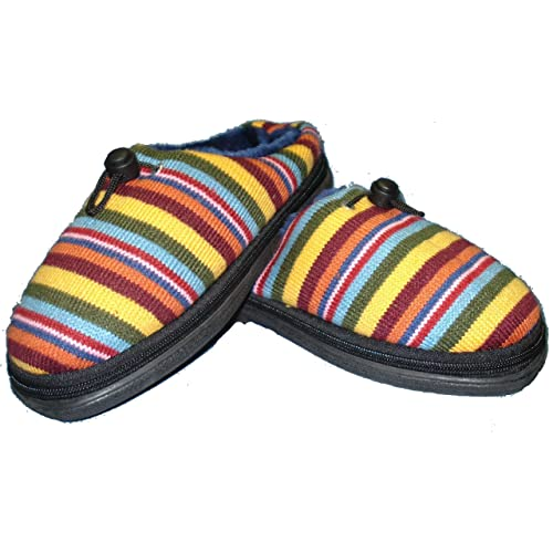 332604e6a13 Microwave Slippers Medium Stripy - these cushioned slippers for women (US  8-9)