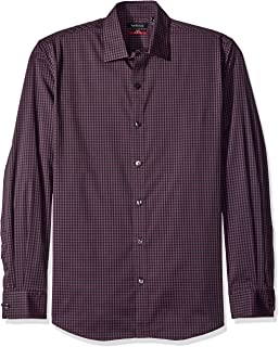 Men's Flex Long Sleeve Button Down Stretch Check Shirt