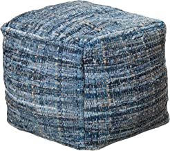 Christopher Knight Home Harlow Hand Woven Denim Fabric Pouf
