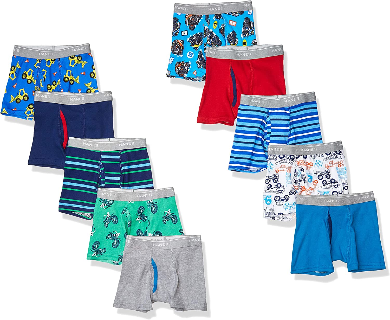 Hanes~Toddler Boys~Tagless~Boxer Briefs~Underwear~6 Pack~Size 2T-3T~NEW