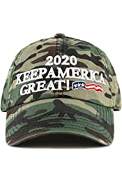 f2b4e888420 THE HAT DEPOT Trump 2020 President Campaign Flag Washed Cotton Unstructured  Cap