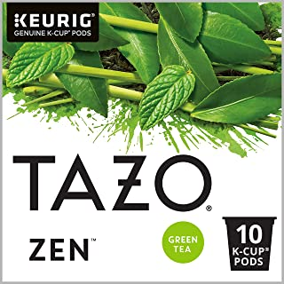 Tazo K Cup Green Tea K-Cups Zen Tea 10 count, Pack of 6 (Packaging may vary)