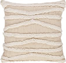 Rivet Modern Fuzzy Lines Throw Pillow - 18 x 18 Inch, White