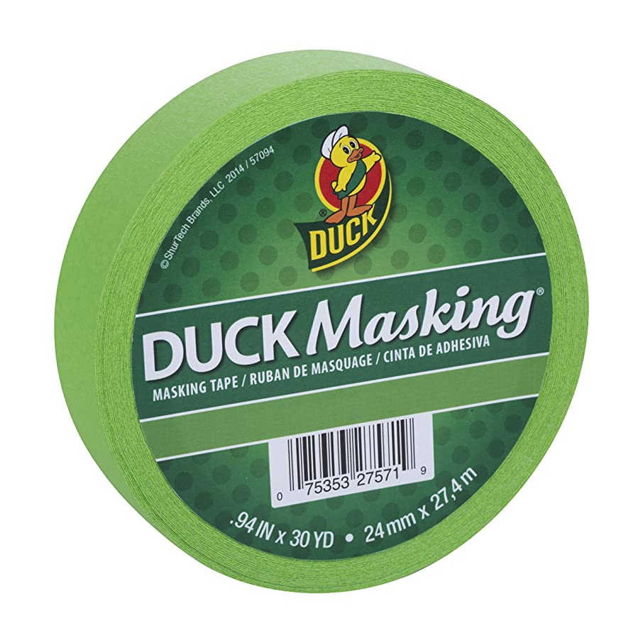 Duck Masking 240882 Light Green Color Masking Tape.94-Inch by 30 Yards