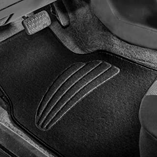 FH Group Black F14401BLACK Premium Carpet Floor Mats with Heel Pad, Beige Color Fits Most Cars, Trucks, and SUVs