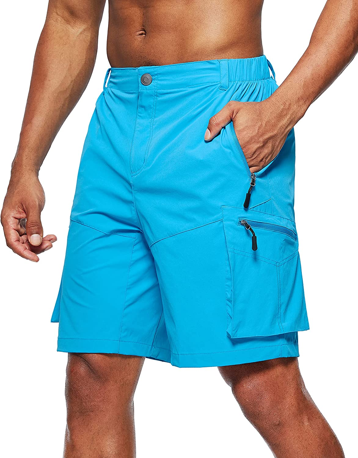 Quantity limited Pudolla Men's Hiking Cargo Limited time trial price Shorts Dry Outdoor Short Quick Travel