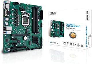 ASUS PRO B460M-C/CSM LGA1200 (Intel 10th Gen) uATX Commercial Motherboard (Dual M.2, Intel LAN, 2X DisplayPorts, 4K @ 60Hz, LPC debug Header and ASUS Control Center Express)