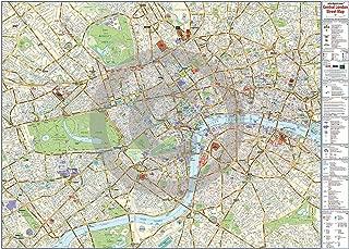 london wall map laminated