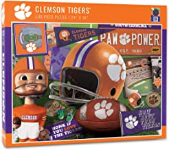 YouTheFan NCAA Clemson Tigers Retro Series Puzzle, Team Colors