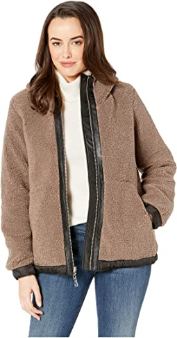 Hooded Faux Shearling Jacket R8971