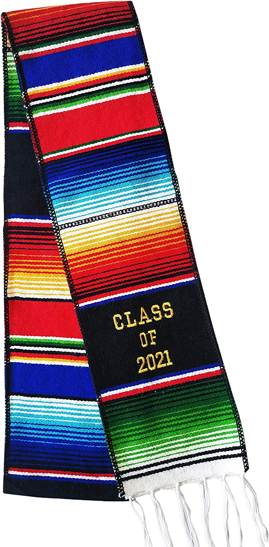 Sarape graduation stole senior sash Hecho en Mexico Mexican stole class of 2021 baja sash saltillo sash First Generation