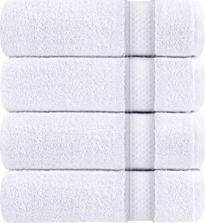 Utopia Towels Luxury White Bath Towels, 4 Pack, 27x54 Inch, 700 GSM Hotel Towels