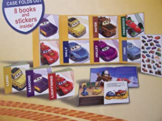 Disney Cars Educational Book Set ~ Take-Along Tales Featuring Ramone, Lightning, Luigi, Sally, Mater, Holley, Francesco & Fin