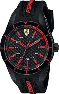 Ferrari Men's 0830245 REDREV Analog Display Quartz Black Watch