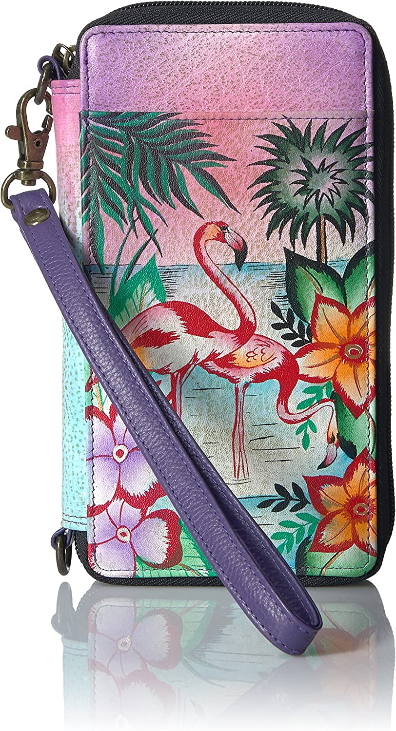 Anna by Anuschka Hand Painted safety Popular popular Smartphone Leather Wallet Case
