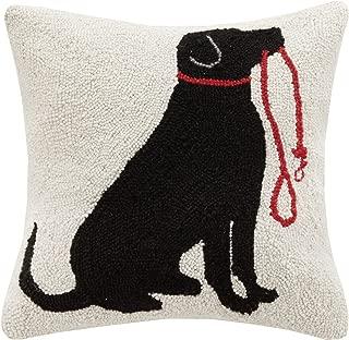 Peking Handicraft Lab and Leash Hook Pillow, Black/Red