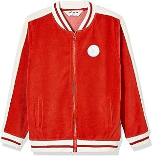 Kid's Velour Varsity Zip Front Jacket for Boys or Girls