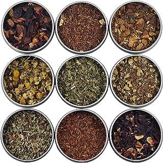 Heavenly Tea Leaves Herbal Tea Sampler, 9 Count - Naturally Caffeine-Free Loose Leaf Teas